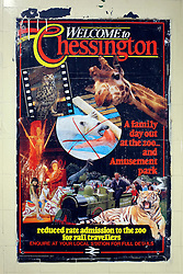 © Licensed to London News Pictures. 03/12/2011, London, UK. A poster advertising Chessington Amusement Park. Staff working at Richmond Station in London have uncovered railway posters from the late 1980's whilst upgrading poster holders. Photo credit : Stephen Simpson/LNP
