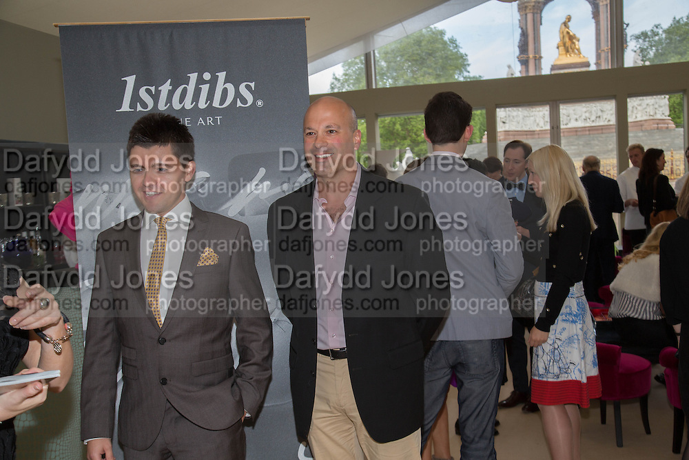 CARMINE BRUNO; DAVID ROSENBLATT, Clair Watson and 1stdibs' CEO David Rosenblatt host a special  preview of  Art Antiques London, Albert Memorial West Lawn, Kensington Gardens, London, SW7 Art Antiques London, Albert Memorial West Lawn, Kensington Gardens, London, 17 June 2013.