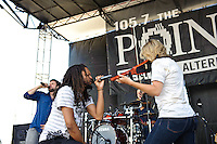 Flobots perform at Pointfest 26 at Verizon Wireless Amphitheater in St. Louis on June 6, 2010