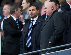 MANCHESTER, ENGLAND - Monday, April 30, 2012: Manchester City's Chairman Khaldoon Al-Mubarek during the Premiership match against Manchester United at the City of Manchester Stadium. (Pic by David Rawcliffe/Propaganda)
