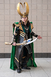 © Licensed to London News Pictures. 14/03/2015. Newham, London, UK.  A girl dressed as Marvel's Loki, one of many cosplayers attending the London Comic Con at the Excel Centre in Docklands. Photo credit : Stephen Chung/LNP