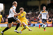 AFC Wimbledon midfielder Jake Reeves (8)  misses during the EFL Sky Bet League 1 match between Port Vale and AFC Wimbledon at Vale Park, Burslem, England on 1 April 2017. Photo by Simon Davies.