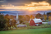We were treated to a very beautiful and moody sunrise on the first morning in Peacham. This scene has it all, a red barn and white church, along with fall foliage and rolling hills. I couldn't be happier to have visited this amazing place.