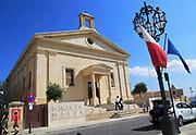 Stock Exchange building in former Garrison Chapel, Castille Square, Valletta, Malta
