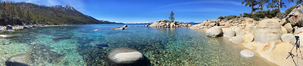 Secret Beach in Lake Tahoe.  This is an iPone Pano.