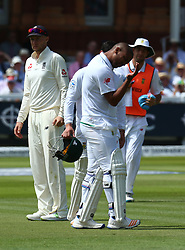 July 8, 2017 - London, United Kingdom - Vernon Philander of South Africa .during 1st Investec Test Match Day Three between England and South Africa at Lord's Cricket Ground in London on July 08, 2017  (Credit Image: © Kieran Galvin/NurPhoto via ZUMA Press)