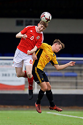 MERTHYR TYDFIL, WALES - Thursday, November 2, 2017: Wales' Toby Vickery during an Under-18 Academy Representative Friendly match between Wales and Newport County at Penydarren Park. (Pic by David Rawcliffe/Propaganda)