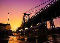 Williamsburg Bridge Sunset from Brooklyn