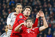 GOAL 1-2 Liverpool defender Virgil van Dijk (4) heads in Liverpool's second goal during the Champions League match between Bayern Munich and Liverpool at the Allianz Arena, Munich, Germany, on 13 March 2019.