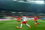 Chorzow, Poland - 2018 March 27: Kamil Grosicki from Poland fights for the ball while Poland v South Korea International Friendly Soccer match at Stadion Slaski on March 27, 2018 in Chorzow, Poland.<br /> <br /> Mandatory credit:<br /> Photo by © Adam Nurkiewicz / Mediasport<br /> <br /> Adam Nurkiewicz declares that he has no rights to the image of people at the photographs of his authorship.<br /> <br /> Picture also available in RAW (NEF) or TIFF format on special request.<br /> <br /> Any editorial, commercial or promotional use requires written permission from the author of image.