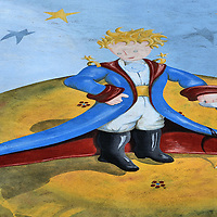 Little Prince Mural in Baden-Baden, Germany <br />