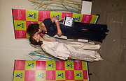 Cherie Blair and Rosa Monckton, Antiques Fair charity Gala evening in aid of Kids, Grosvenor House. 12 June 2003. © Copyright Photograph by Dafydd Jones 66 Stockwell Park Rd. London SW9 0DA Tel 020 7733 0108 www.dafjones.com