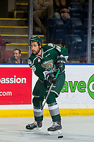 KELOWNA, BC - FEBRUARY 15:  Sahvan Khaira #86 of the Everett Silvertips passes the puck against the Kelowna Rockets at Prospera Place on February 15, 2019 in Kelowna, Canada. (Photo by Marissa Baecker/Getty Images)