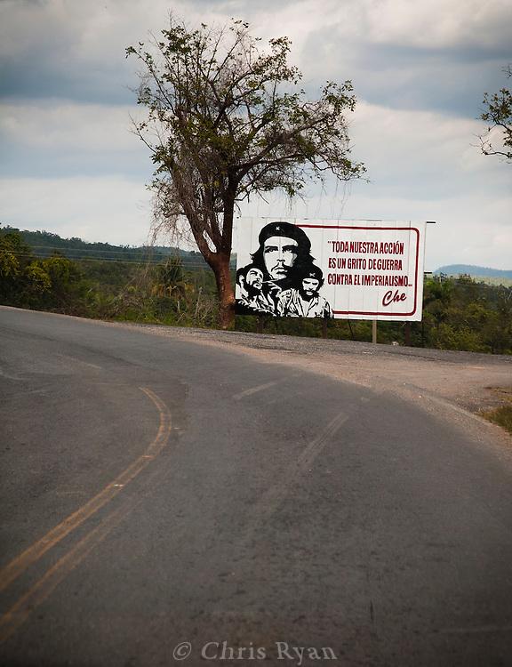 Billboard to Che Guevara, Pinar del Rio, Cuba
