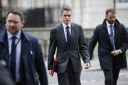 © Licensed to London News Pictures. 12/03/2019. London, UK. Defence Secretary Gavin Williamson walks to Cabinet ahead of the meaningful vote on the Brexit withdrawal agreement in The House of Commons later. Photo credit: Peter Macdiarmid/LNP