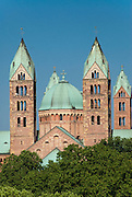 The famous romanic Dome of Speyer, Palatinate, Germany