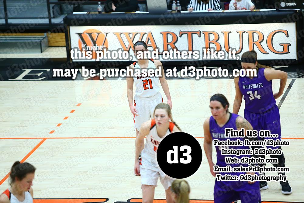 Women's Basketball: Wartburg College Knights vs. University of Wisconsin, Whitewater Warhawks
