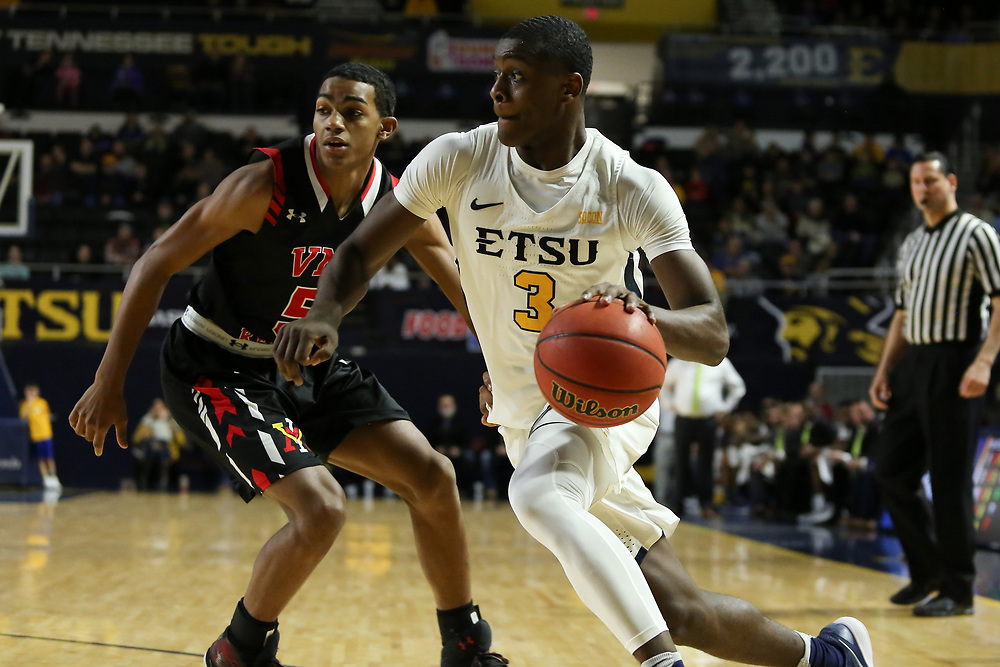 January 13, 2018 - Johnson City, Tennessee - Freedom Hall: ETSU guard Bo Hodges (3)<br /> <br /> Image Credit: Dakota Hamilton/ETSU
