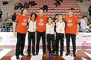 DESCRIZIONE : Ancona Lega A 2012-13 Sutor Montegranaro EA7 Emporio Armani Milano<br /> GIOCATORE : arbitri<br /> CATEGORIA : referee special olympics<br /> SQUADRA : EA7 Emporio Armani Milano Sutor Montegranaro<br /> EVENTO : Campionato Lega A 2012-2013 <br /> GARA : Sutor Montegranaro EA7 Emporio Armani Milano<br /> DATA : 25/11/2012<br /> SPORT : Pallacanestro <br /> AUTORE : Agenzia Ciamillo-Castoria/C.De Massis<br /> Galleria : Lega Basket A 2012-2013  <br /> Fotonotizia : Ancona Lega A 2012-13 Sutor Montegranaro EA7 Emporio Armani Milano<br /> Predefinita :