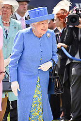 HM The Queen at the 2d day of The Investec Derby Festival - Derby Day, Epsom Racecourse, Epsom, Surrey, UK. 01 June 2019.