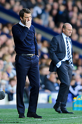 Manager Tim Sherwood (ENG) of Tottenham Hotspur looks on nervously on the touchline with his side losing 3-2 with Manager Pepe Mel (ESP) of West Brom in the background - Photo mandatory by-line: Rogan Thomson/JMP - 07966 386802 - 12/04/2014 - SPORT - FOOTBALL - The Hawthorns Stadium - West Bromwich Albion v Tottenham Hotspur - Barclays Premier League.