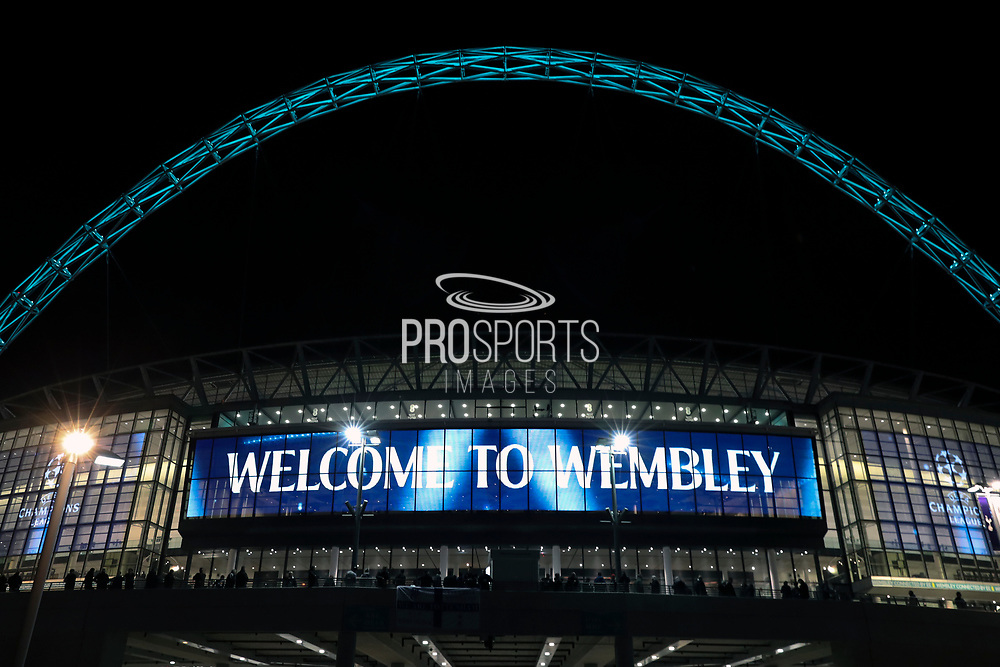 Wembley Stadium during the Champions League match between Tottenham Hotspur and Real Madrid at Wembley Stadium, London, England on 1 November 2017. Photo by Matthew Redman.