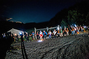 """About 200 miners wifes started a night march towards a closed mine in Cinera,Leon, to protest against the government cuts. Esther Rodriguez, a miner's wife said: """"What future can we have? But the worst thing is that nobody in Spain supporting us, only miners from other countries like Poland and the UK.""""<br /> <br /> A miner who wished to stay anonymous said: ''There is a lot of tension, and the tension is reaching the point where riot police are entering villages full of women and children, and they don't care. In the same way that they don't care, we won't care either. It's really sad because it is reaching the point that one day something bad will happen."""""""