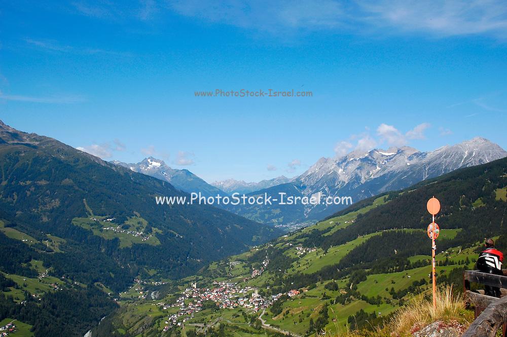 Austria, Tyrol, Landeck District, Kaunertal valley, overlooking Jerzens im Pitztal