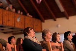 CZECH REPUBLIC VYSOCINA NEDVEZI 18APR15 - Villagers enjoy the lay theatre group performance in the village hall in Nedvezi, Vysocina, Czech Republic.<br /> <br /> jre/Photo by Jiri Rezac<br /> <br /> © Jiri Rezac 2015