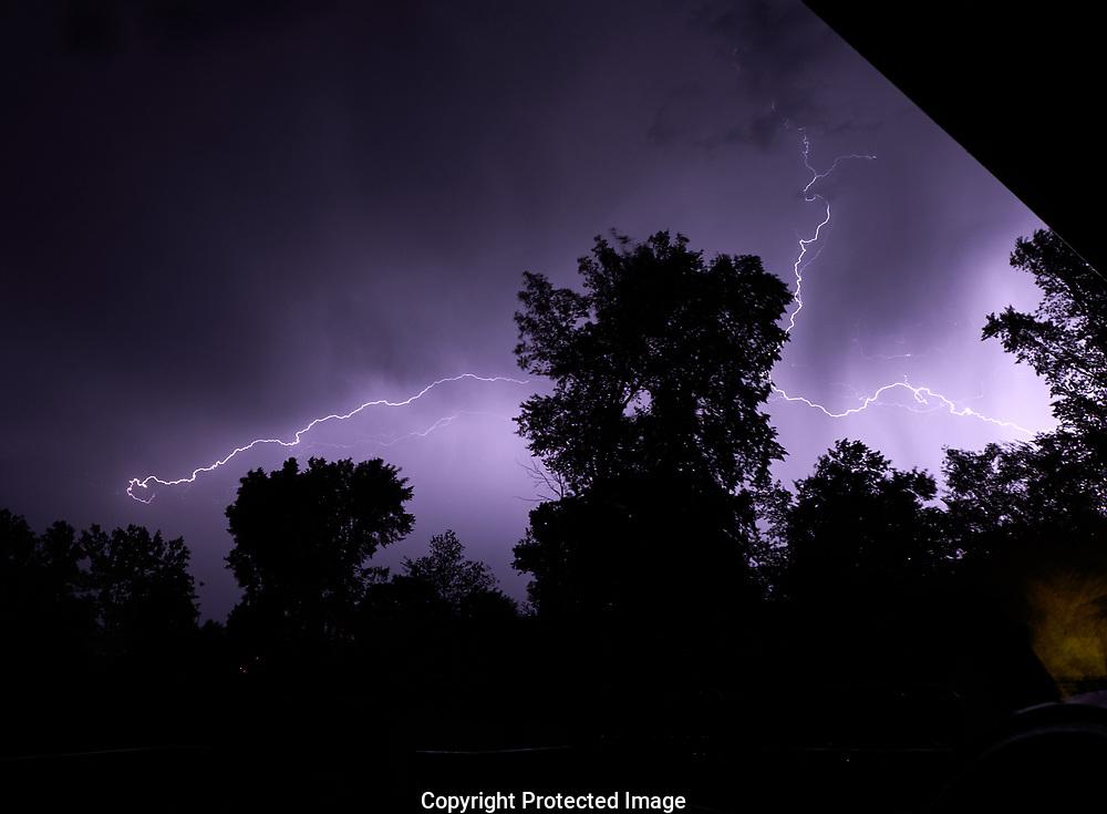 Lightning in Sarnia, Ontario area , Monday, June 26, 2017. (Photo/John Froschauer)