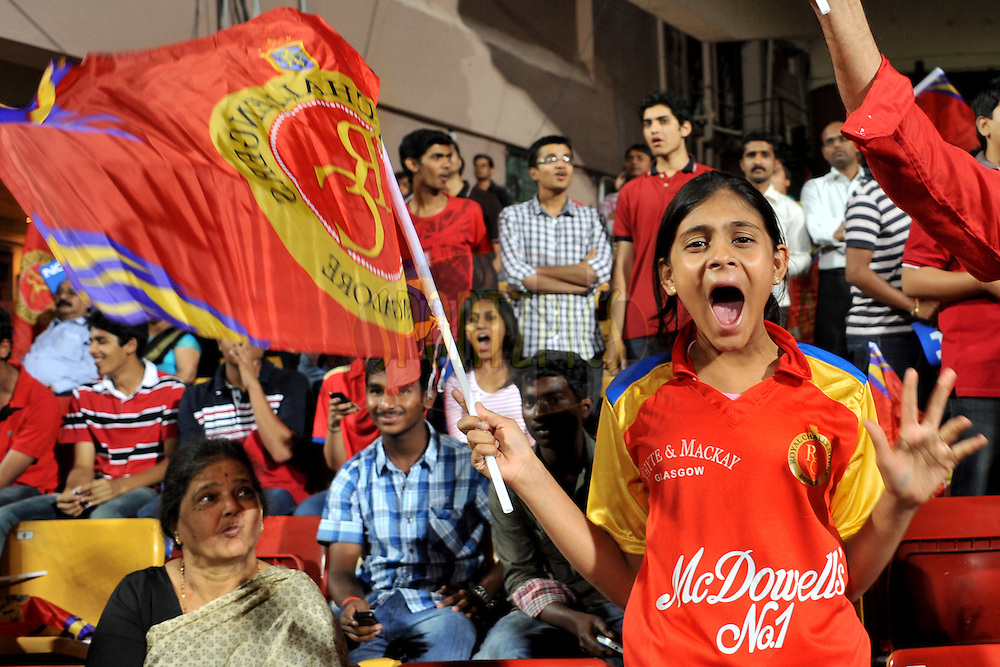 A RCB fan during match 1 of the NOKIA Champions League T20 ( CLT20 )between the Royal Challengers Bangalore and the Warriors held at the  M.Chinnaswamy Stadium in Bangalore , Karnataka, India on the 23rd September 2011..Photo by Pal Pillai/BCCI/SPORTZPICS
