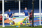 Goal - Bournemouth midfielder Junior Stanislas (19) scores a goal 1-3  during the Premier League match between Everton and Bournemouth at Goodison Park, Liverpool, England on 26 July 2020.