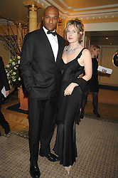 Actor COLIN SALMON and FIONA HAWTHORNE at the Chain of Hope Ball held at The Dorchester, Park Lane, London on 4th February 2008.<br />