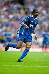 LONDON, ENGLAND - Saturday, May 17, 2008: Portsmouth's Nwankwo Kanu in action against Cardiff City during the FA Cup Final at Wembley Stadium. (Photo by David Rawcliffe/Propaganda)