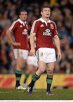 11 June 2013; Brian O'Driscoll and Jamie Roberts, left, British & Irish Lions. British & Irish Lions Tour 2013, Combined Country v British & Irish Lions, Hunter Stadium, Newcastle, NSW, Australia. Picture credit: Stephen McCarthy / SPORTSFILE