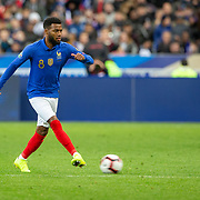 PARIS, FRANCE - March 25: Thomas Lemar #8 of France in action during the France V Iceland, 2020 European Championship Qualifying, Group Stage at  Stade de France on March 25th 2019 in Paris, France (Photo by Tim Clayton/Corbis via Getty Images)
