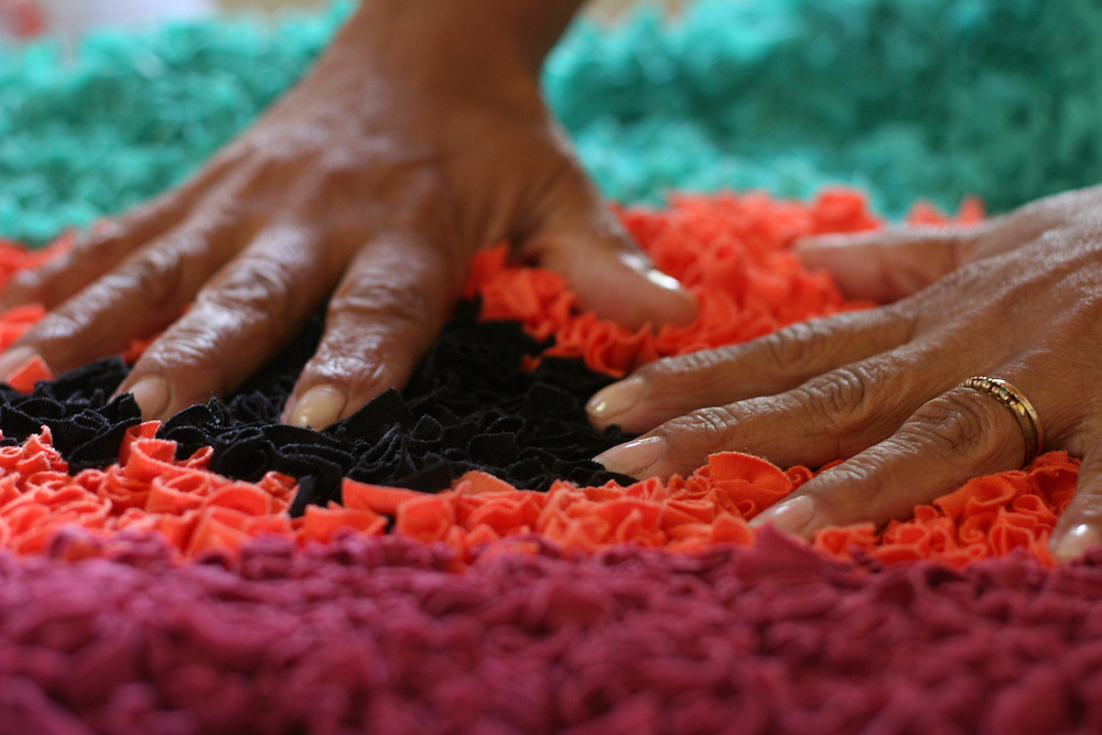 Rio Acima_MG, Brasil...Tapecaria do Projeto Fred, na foto detalhes de um tapete...The tapestry of Fred project, in this photo detail of a carpet...Foto: BRUNO MAGALHAES / NITRO..