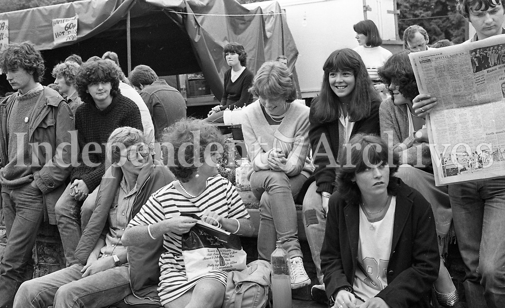 Slane Castle concert 1982 fans enjoying themselves.<br />
