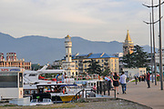 Tourists at The port of Batumi, Georgia