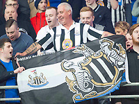 Football - 2016 / 2017 Championship - Cardiff City vs. Newcastle United<br /> <br /> Newcastle fans celebrate promotion to the premiership & sunderland's likely relegation , after the end of their victory , at Cardiff City Stadium.<br /> <br /> COLORSPORT/WINSTON BYNORTH