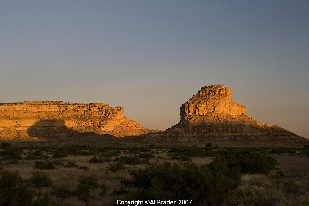 Moonrise at Fajada Butte, Chaco Canyon NHS, New Mexico
