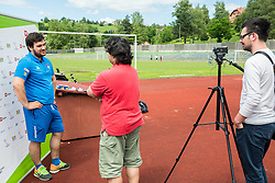 Luka Cmok, coach at Media day of ZSIS-POK with Henrik Plank and Jana Führer, candidates for Paralympic Games Rio 2016, on June 20, 2016 in Sentjur, Slovenia. Photo by Vid Ponikvar / Sportida