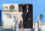 President Obama Departs at LAX 2016