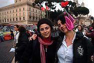 Roma 24 Novembre 2007.Manifestazione  nazionale delle donne per le donne contro la violenza maschile .Rome November 24, 2007.National demonstration of women for women against male violence.