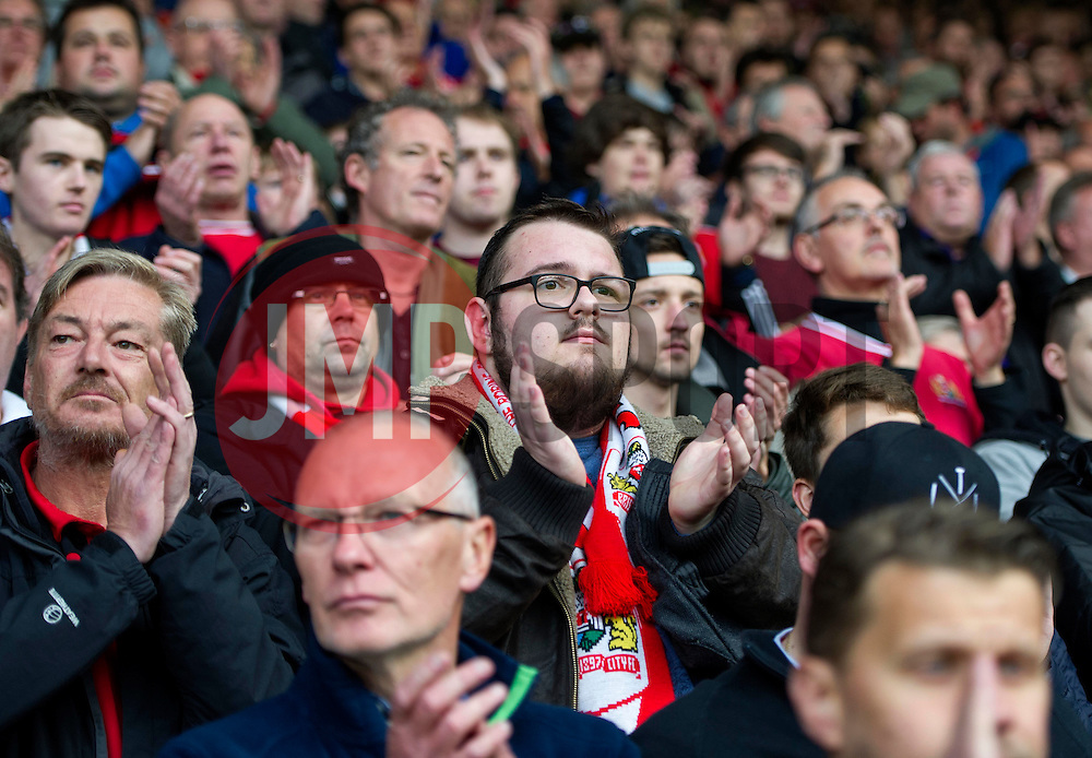 Bristol City supporters pay tribute to departed club legend Gerry Gow - Mandatory by-line: Paul Knight/JMP - 22/10/2016 - FOOTBALL - Ashton Gate Stadium - Bristol, England - Bristol City v Blackburn Rovers - Sky Bet Championship