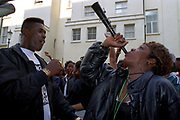 A woman blow a Horn, Notting Hill Carnival  2000