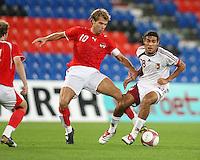 Fussball International Laenderspiel Oesterreich - Venezuela Andreas Ivanschitz (AUT,mitte) gegen Juan Arango (VEN,re)