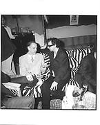 Tim Burton, John Waters, New Line party, Casino,Cannes Film festival 13th May1997© Copyright Photograph by Dafydd Jones 66 Stockwell Park Rd. London SW9 0DA Tel 020 7733 0108 www.dafjones.com