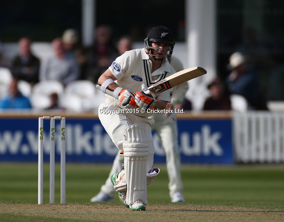 Tom Latham bats during the four day game between Somerset and a New Zealand XI at the County Ground, Taunton. Photo: Graham Morris/www.cricketpix.com (Tel: +44 (0)20 8969 4192; Email: graham@cricketpix.com) 09052015
