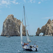 Excursion boats to The Arch. Cabo San Lucas, BCS. Mexico.